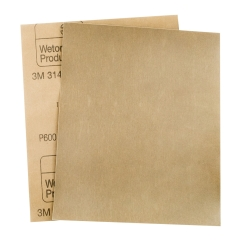 3M™ 314 Wetordry™ Sandpaper Sheet: P600 - Pack of 25
