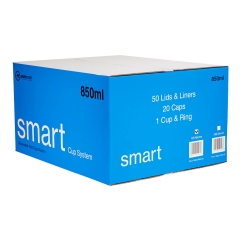 Smart Cup System Lids & Liners 125µm: 850ml - Box of 50